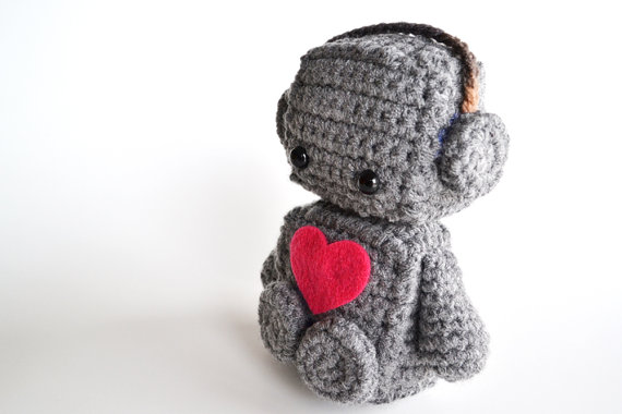 Amigurumi Romantic Robot by BubblegumBelles