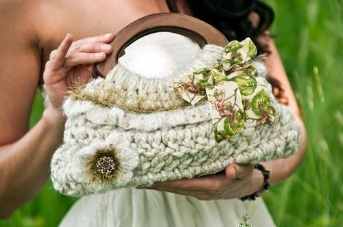 Small Spring Ruffle Purse by JackieMoon